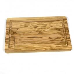 Planche à découper en bois d'olivier - Frêne fait main
