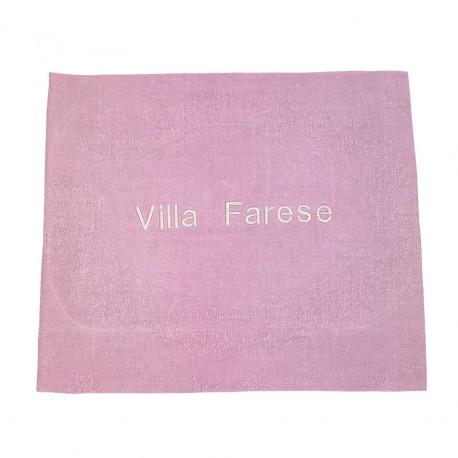 Torchon d'office ancien brodé Villa Farese damassé/soie - Villa Farese
