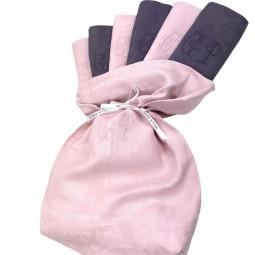 Six serviettes brodées main d'antan monogramme CP - Villa Farese