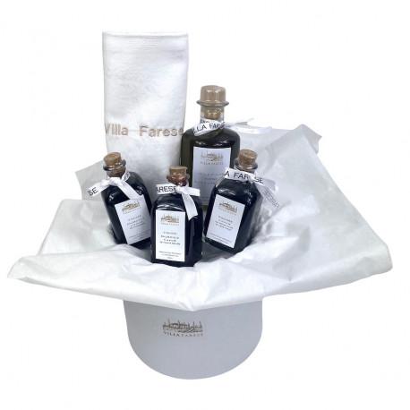 Coffret cadeau 3 vinaigres et huile d'olive au goût à l'ancienne - Villa Farese